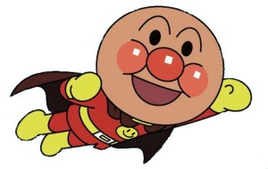 Anpanman - The Japanese superhero with a head of Anpan.